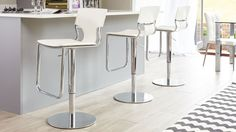 Modern Gas Lift Bar Stool Faux Leather Uk Delivery