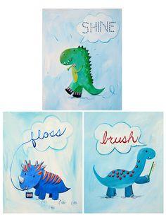 Brush, Floss, Sparkle Set Paper Print by Cici Art Factory at Gilt