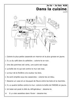 Lire pour comprendre au CP CE1: je lis, je fais | Blog d'Alkaswaba French Language Lessons, French Language Learning, French Lessons, Ap French, Core French, Learn To Read English, Learn French, Learning French For Kids, Teaching French