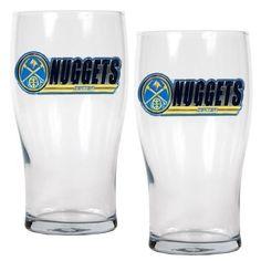 Denver Nuggets Set of 2 20Oz Beer Glass Cups