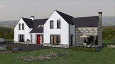 mod039 Stone Cladding Exterior, House Designs Ireland, Bungalow Conversion, Dormer Bungalow, Bungalow Exterior, Minecraft Houses, Cottages, Building A House, House Plans