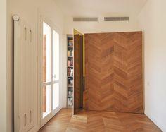 #tissellistudio storage room behind yellow coloured mirror