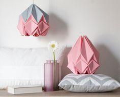 Kinderzimmerlampe junge ~ Sky blue origami lamp cute handmade pendant light perfect lamp
