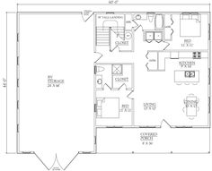 RV Garage Kit w/ 2 Bedroom, 2 Bath Apartment and Storage Above