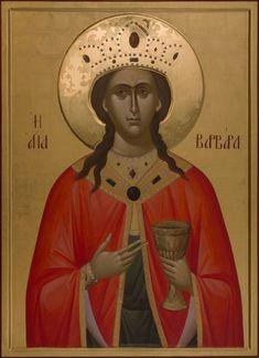 The Holy Great Martyr Barbara. Saint Barbara, Byzantine Icons, Orthodox Icons, Saints, Religion, Female, Movie Posters, Art, Fresco