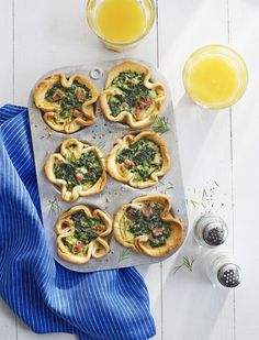 Grab and Go Spinach and Ham Egg Bakescountryliving