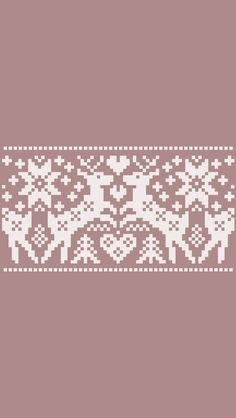 Taupe beige cream reindeers knit pattern iphone wallpaper phone background lock screen