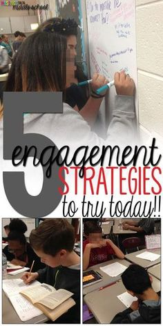 Check out my blog for 5 Engagement Strategies that you can start using with your students today!!