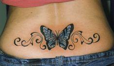 Mariposa con Firuletes en espalda baja