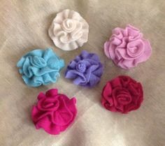 Easter pastel  cashmere felt flower for by mcleodhandcraftgifts,