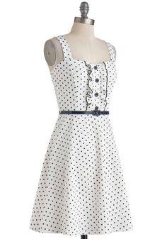 Spontaneous Spins Dress in Navy | Mod Retro Vintage Dresses | ModCloth.com