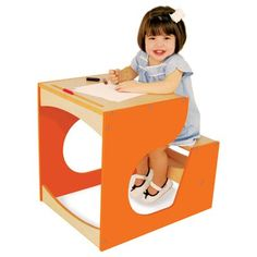 sweet little arty toddler desk with storage