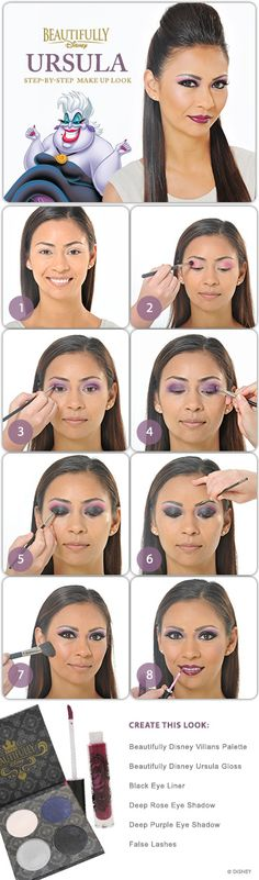 Beautifully Disney - Ursula DIY Make Up Look #WaltDisneyWorld #DIY
