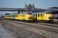 NS - Plan U diesels at Geldermalsen (1983) #ns #dutch #trains