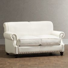 Starting with this pin, these furniture pieces are from Wayfair, an online option.  You just cant sit in it to see if it's comfy! Landry Loveseat