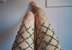 https://www.etsy.com/fr/listing/510902249/green-wall-net?ref=shop_home_active_1 #fashion #etsy #bead #fishnet #fairy #embroidery #sexy