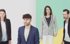 Australian Indie-Electronic band Miami Horror releases their second album All Possible Futures. Album Releases, Indie, Miami, Horror, Suit Jacket, Canada, Blazer, Signs, Coat