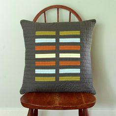 Modern throw pillow  Grey Bricks by bperrino on Etsy, $58.00