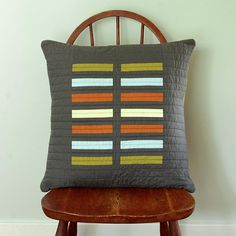 Modern throw pillow  Grey Bricks by bperrino on Etsy, $58.00