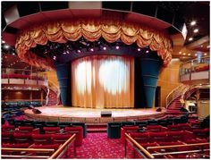The FESTIVAL Theater with drop stage to leap cover two decks (Deck 6 & the max capacity is Costa Victoria, Decks, Valance Curtains, Theater, Stage, Drop, Cover, Home Decor, Decoration Home