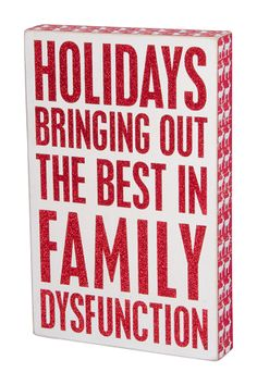 """""""Family Dysfunction"""" Box Sign"""