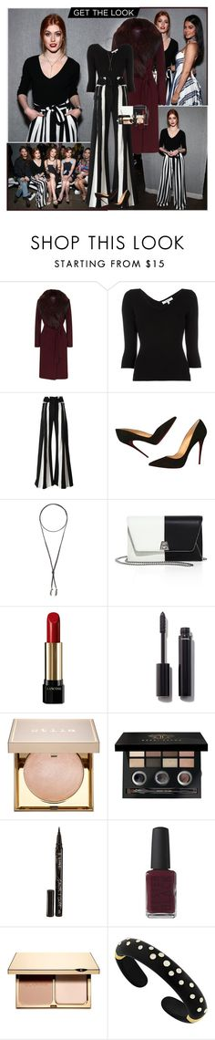 """""""Katherine McNamara : )"""" by thisiswhoireallyam7 ❤ liked on Polyvore featuring Harrods, Milly, Ann Demeulemeester, Christian Louboutin, Torchlight, Akris, Lancôme, Chanel, Stila and Bobbi Brown Cosmetics"""