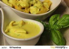 Jemná šafránová omáčka na těstoviny