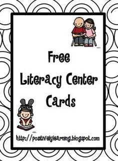 Here's a freebie for your literacy centers!