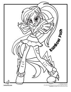 My Little Pony Rainbow Dash from Equestria Girls   Cartoon Jr.