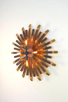 "RADIANT LIGHT - ""Harata""  - Wine Barrel Light  - 100% recycled"