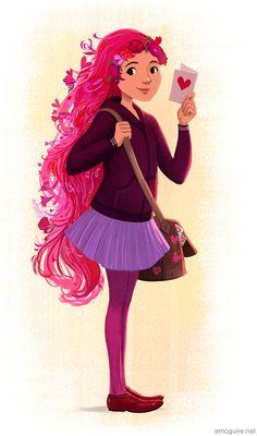 "erinmcguire: "" Happy Valentine's Day 💕 "" Beautiful Artwork, Storyboard, Art Blog, Photo Art, Disney Characters, Fictional Characters, Aurora Sleeping Beauty, Valentines, Disney Princess"