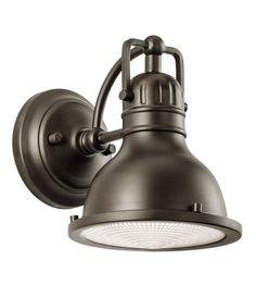 Kichler 49064OZ Hatteras Bay 1 Light 8 inch Olde Bronze Outdoor Wall Lantern #LightingNewYork