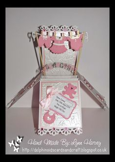 Delphinoid's Cards and Craft: New Baby Girl Pop Up Box Card