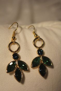Gem Leaf Earrings 7497