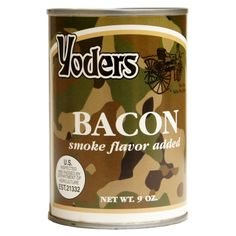 Discount Mylar Bags - Yoder's Canned Bacon (50 Slices Per Can, Order 12 Cans For Case Pricing!), $17.99 (http://www.discountmylarbags.com/yoders-canned-bacon-50-slices-per-can-order-12-cans-for-case-pricing/)