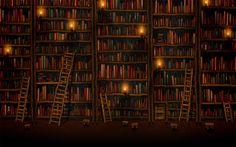 library animated Prezi background