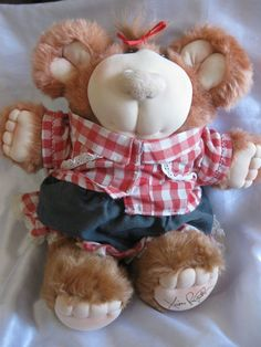 Coleco 1985 Xavier Roberts Furskins Girl Boy Bear w/ Outfit Plush Doll Xavier Roberts, Artworks, Teddy Bear, Memories, Animals, Outfits, Memoirs, Souvenirs, Animales