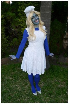 Day 355: Smurfette from The Smurfs costume. Theme Me is a blog that follows a personal challenge to dress to a different theme every day for a whole year.