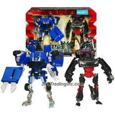"""Hasbro Transformers Revenge of the Fallen Series Exclusive 2 Pack Deluxe Class 6"""" Tall Figure - SUPER TUNER THROWDOWN with BLOWPIPE and SIDEWAYS"""