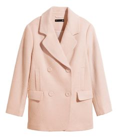Cheerful pink coats are having a moment this season. Short, double-breasted coat in wool blend, with front & side pockets. | H&M Pastels