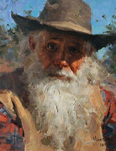 'The Prospector' by Mian Situ [司徒绵 was born In 1953 In Canton (now Guangdong) Southern China]