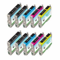 10pk (4BK + each colors) Remanufactured Epson T126, NX430, WorkForce 435/840 Ink Cartridges