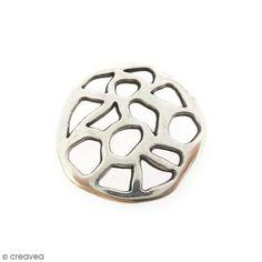 Compra nuestros productos a precios mini Colgante conector círculo calado - Plaetado - 30 mm - Entrega rápida, gratuita a partir de 89 € !