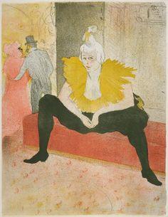 The Seated Clowness (Mademoiselle Cha-U-Kao) - Henri de Toulouse-Lautrec, French (Albi 1864 - 1901 Malromé)