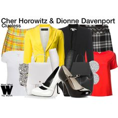 Inspired by Alicia Silverstone and Stacey Dash as Cher and Dionne in Clueless. Clueless Fashion, Clueless Outfits, Outfits For Teens, 90s Fashion, Trendy Outfits, Cute Outfits, Clueless Style, Cher And Dionne, Stacey Dash