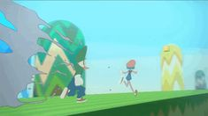The Little girl and goose are in the world inside the consoles (anim russe pour le fun) - News Cartoon Gifs, Cartoon Art, Animation Reference, Being In The World, Cute Pokemon, Motion Design, Storyboard, Animated Gif, Cute Art