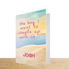 Love Island Personalised Valentines Card.