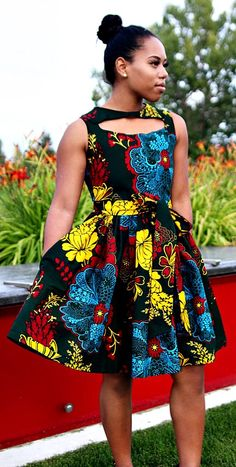 Florence Green Floral Front Cutout Gather Dress With Belt and Pockets. -Green Ankara African Wax Print Floral Dress With chest cutout details, side pockets, and belt. -Made from 100% cotton Ankara African wax print fabric. Ankara   Dutch wax   Kente   Kitenge   Dashiki   African print dress   African fashion   African women dresses   African prints   Nigerian style   Ghanaian fashion   Senegal fashion   Kenya fashion   Nigerian fashion   Ankara crop top (affiliate)