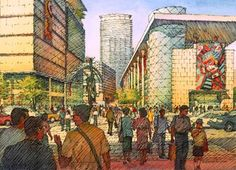 Richard Sneary, Architectural Illustration.