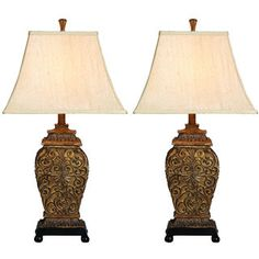 Shop for Casa Cortes Frech Scrolls 3-Way 30-inch Table Lamp (Set of 2). Get free delivery at Overstock.com - Your Online Home Decor Shop! Get 5% in rewards with Club O!